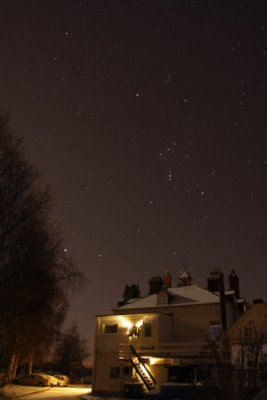 Orion over Preston Montford Hall