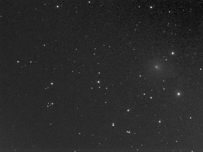 Photo of comet ASASSN by Robin Scagell