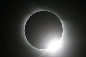 Image of the Diamond Ring during a total solar eclipse, taken by Geoff Elston