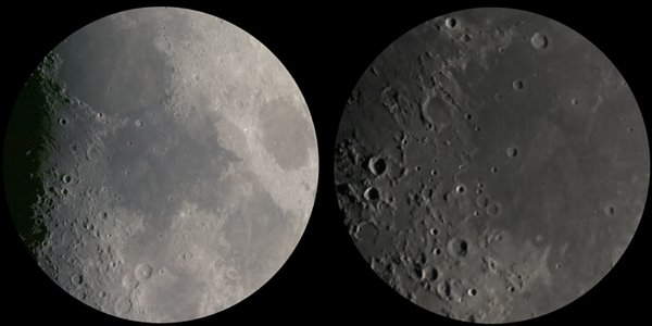 Moon at two magnifications